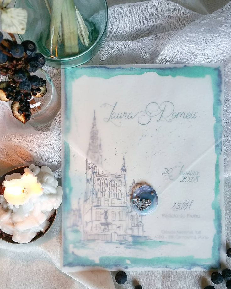 L&R Wedding A beautiful handpainted invitation. Photo and stacionery: a pajarita