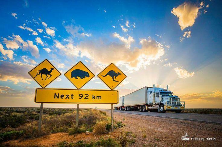 Road sign near Nullabor Station - Nullabor Plain, South Australia