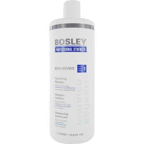 Bosley Bos Revive Nourishing Shampoo for Visibly Thinning Non Color-Treated Hair, 33 Ounce by Bosley. Save 28 Off!. $28.00. Bosley, the world's most experienced hair restoration expert, has created professional strengthen for thicker fuller-looking hair. Bosley revive hair care reconditions hair and rejuvenates the scalp. Paraben-free volumizing conditioner infuses hair with vitality, volume and thicker appearance.