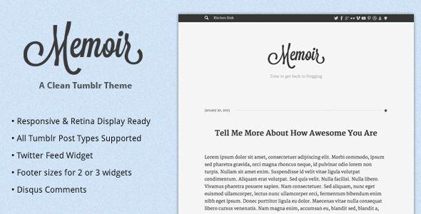 Memoir Tumblr Theme - Blog Tumblr