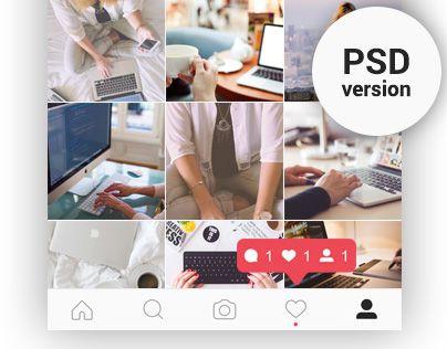 다음 @Behance 프로젝트 확인: \u201cFREE | Instagram Feed & Profile Screen PSD UI – 2016\u201d https://www.behance.net/gallery/44377887/FREE-Instagram-Feed-Profile-Screen-PSD-UI-2016