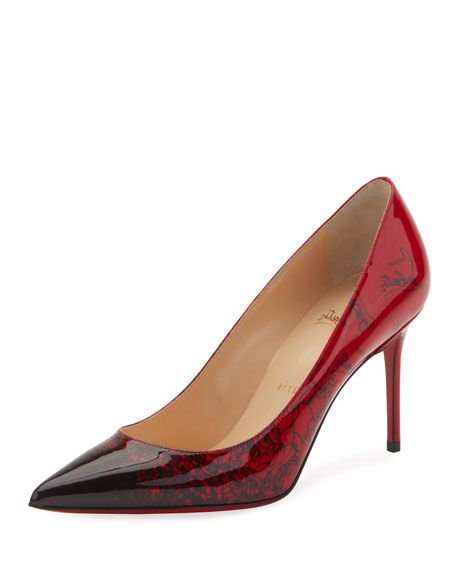 a2bf5424c90 Decollete 554 Mid-Heel Patent Degraloubi Red Sole Pumps in 2019 ...