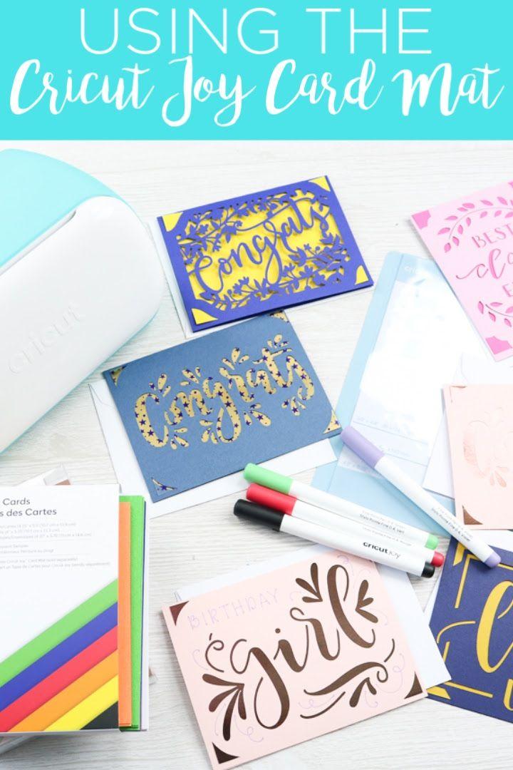 Making Cards With The Cricut Joy Card Mat Joy Cards Cricut Cards Card Making