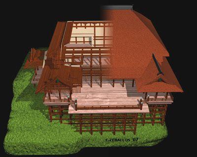 Mi Moleskine Arquitectónico: KIYOMIZU DERA, EL TEMPLO DEL AGUA PURA
