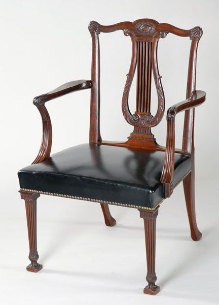 Lyre back chair by master craftsman Thomas Chippendale -. Wooden  ChairsAntique ... - 56 Best Lyre Back Chairs Images On Pinterest Chairs, Antique