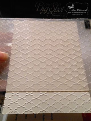 How to emboss a full piece of card in the direction you want, when the embossing folder has a different orientation, by Tami Chronowski