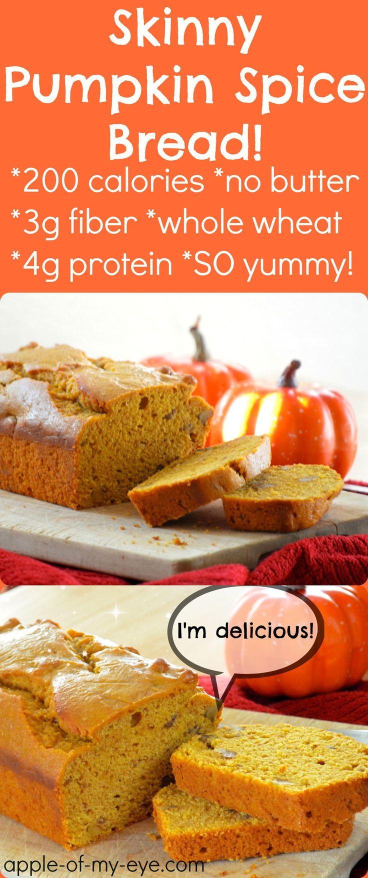 Skinny Pumpkin Spice Bread