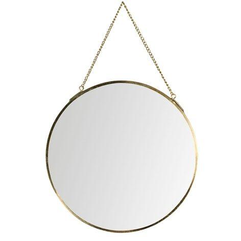 Spegel SHAPES rund. . Spegel med kedja. Finns i flera olika former.