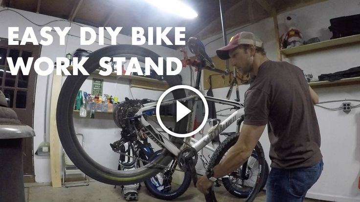 How to build your own bike work stand for less than $50 in less than 30 minutes that is very sturdy and stores away easily.