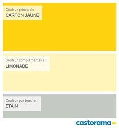 Castorama Nuancier Peinture - Mon harmonie Peinture  CARTON JAUNE satin de COLOURS Collection