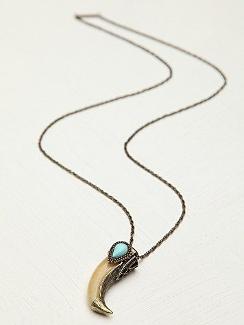 Free People Wild at Heart Pendant samantha wills tooth pendant bohemian turquoise jewelry