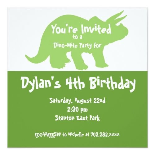 58 best cute dinosaur birthday party invitations images on, Birthday invitations