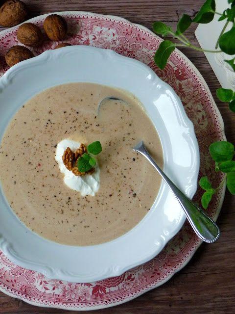Pyry na Gaz: Zupa-krem z pieczonych kasztanów i orzechów