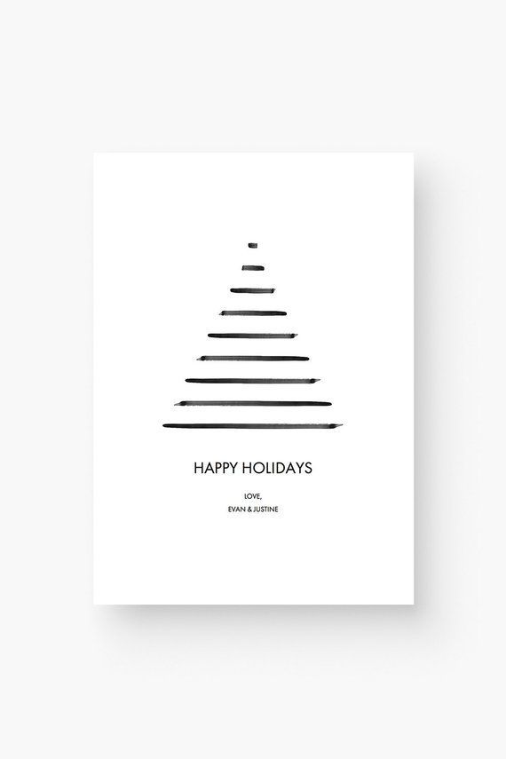 Pin By Sabine Pasalic On Lettering Kalligraphie Painting Minimalist Holiday Cards Printable Holiday Card Christmas Tree Cards