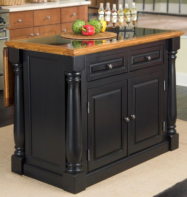 Best Monarch Granite Top Black And Distressed Oak Island 400 x 300