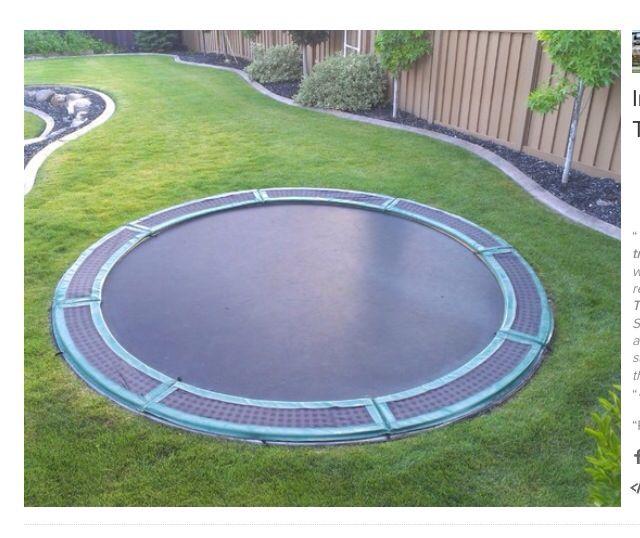 1000 Ideas About Oval Trampoline On Pinterest: 1000+ Ideas About In Ground Trampoline On Pinterest