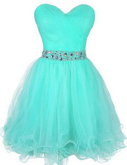 Cute Short Tulle Sweetheart Prom Dress, homecoming dress
