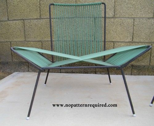 """1950's Woven """"X"""" patio chair!"""