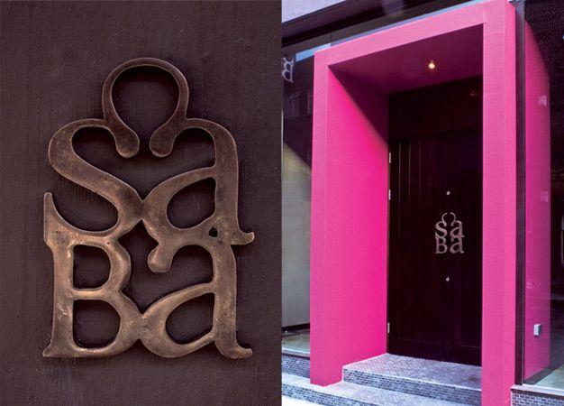 If I ever have a studio with its own door.: Doors, Studios Inspiration, Saba Restaurants, Design Projects, Type Design, Creative, Graphics Projects, Letterpress Studios, Graphic Projects