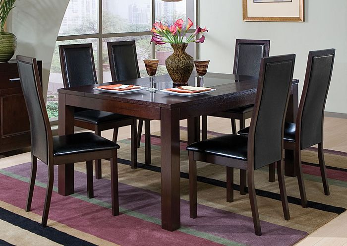 Dining Rooms More Annetta Cappuccino Dining Table W 6 Side Chairs