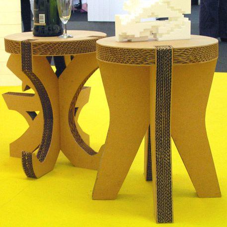 cardboard stools