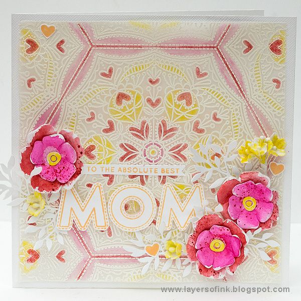 Layers of ink - Vellum Mother's Day Card Tutorial by Anna-Karin. Made for the Simon Says Stamp Mothers, Fathers, and Florals release blog hop. White embossing on vellum.