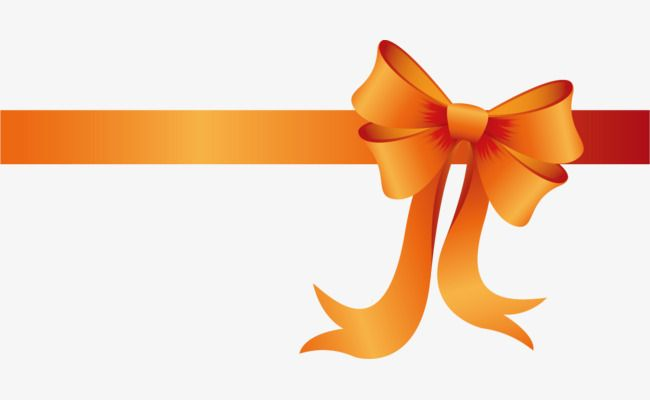 Gradient Orange Ribbon Bow Bow Clipart Holiday Packages Bow Png Transparent Clipart Image And Psd File For Free Download Ribbon Bows Orange Ribbon Bow Clipart