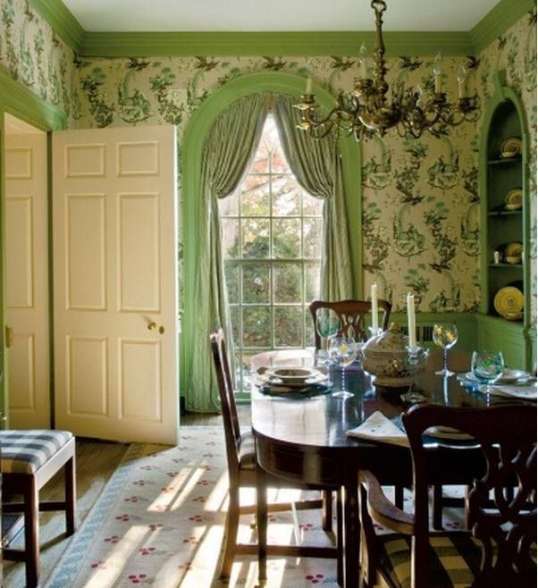 Georgian Classics Always Green Dining RoomFarmhouse