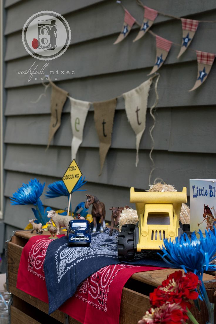 Little Blue Truck themed birthday party. Toddler birthday party theme ideas. 2nd birthday.