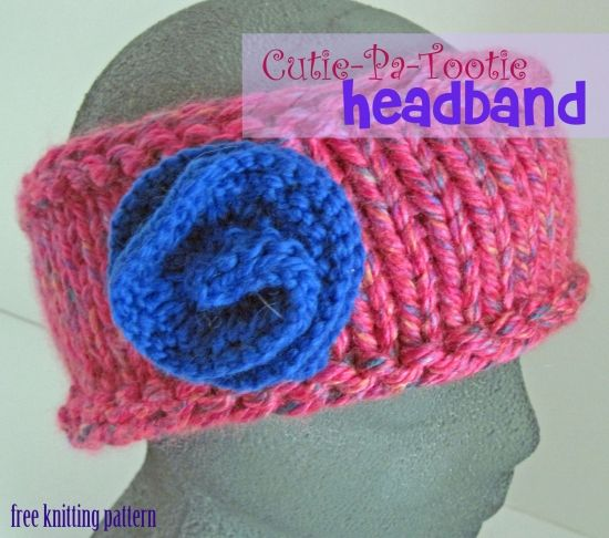 Free Knitting Pattern - Cutie Patootie Headband