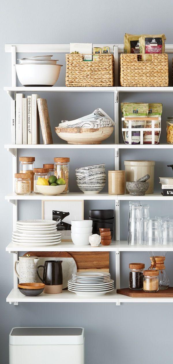 Perfect Your Pantry With Custom Elfa Shelving Solution Elfa