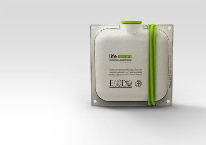 MILANO EXPO 2015: Life / Paper-made WaterContainer - The Dieline -