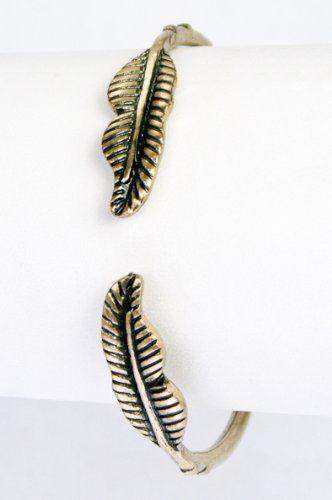 Sleek Bronze Metal Double Leaf Cuff Bracelet AMEX Jewelry. $8.99. Bronze Metal. Leaf Cuff Bracelet. Save 53%!