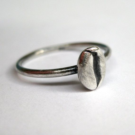 Coffee Bean Ring  Sterling silver by SuKeatesJewellery on Etsy