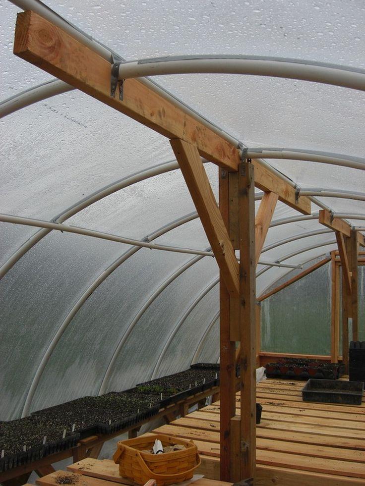 homemade dome greenhouse | DIY Hoop Greenhouse - Braces
