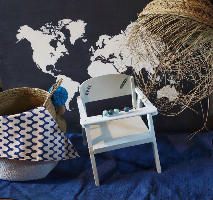 Mardi : work in progress avec une petite chaise pot vintage relookée pour l arrivée d' Eyal bébé de l été 2017  !! Bravo à sa jolie maman . #viedemeuble #bebe #vintage #tuesday #summer #summerbaby #babyshower #homedecor #bluemood #indigo #loveit #kids #bedroom #style