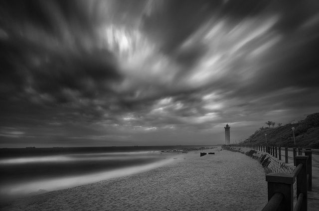The Lighthouse in Umhlanga looks even better in black and white!