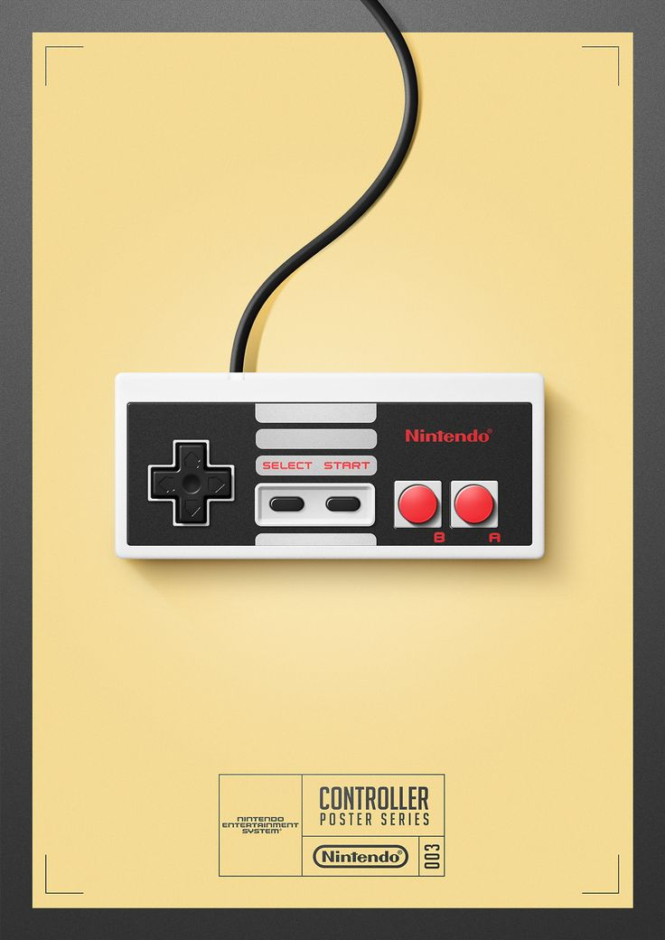 #Nintendo #NES - Controller Poster Series 003 by Quentin Fevre on Behance