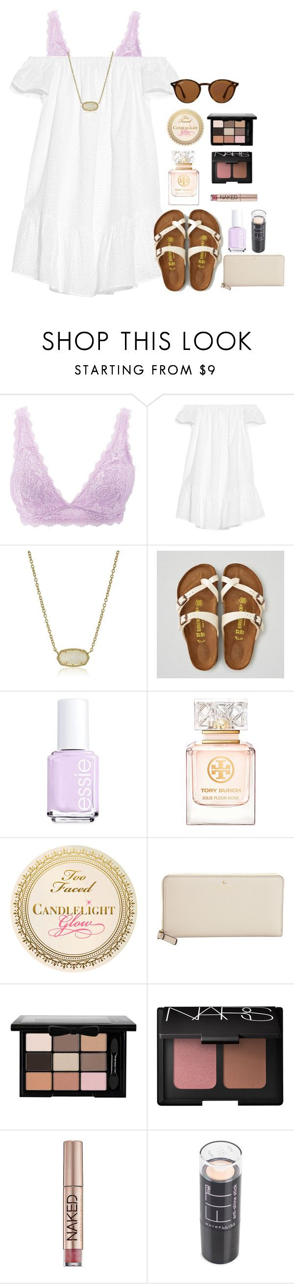 """""""contest entry #1"""" by cora-g77 ❤ liked on Polyvore featuring Charlotte Russe, Elizabeth and James, Kendra Scott, American Eagle Outfitters, Essie, Tory Burch, Kate Spade, NARS Cosmetics, Urban Decay and Maybelline"""
