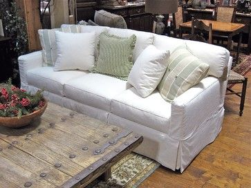 Slipcovered Sofa, Available In Loveseat, Apartment Sofa, And Chair. Over  1000 Fabrics, Many Cushion Options  Country Willow Furniture