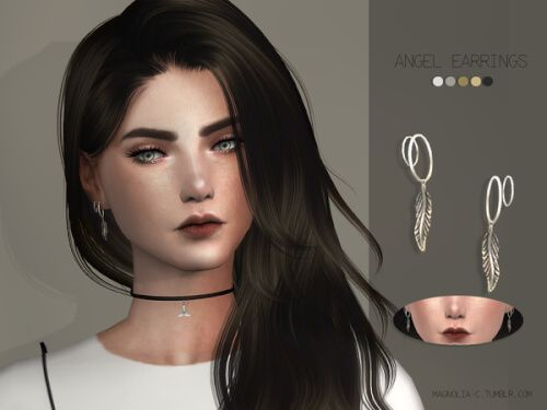 Angel Earrings for The Sims 4