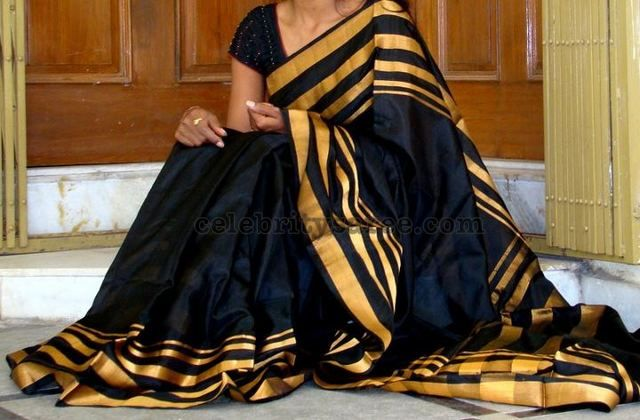 Black Classy Designer Saree | Saree Blouse Patterns