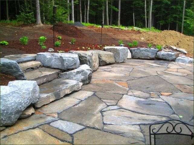best 25+ stone patio designs ideas on pinterest | paver stone ... - Rock Patio Designs