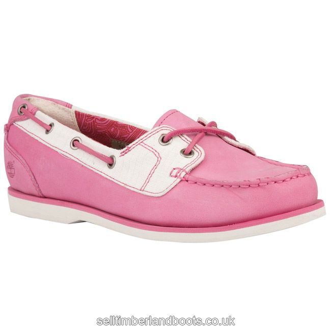 Women's Classic 2-Eye Leather and Fabric Boat Shoe £93.61