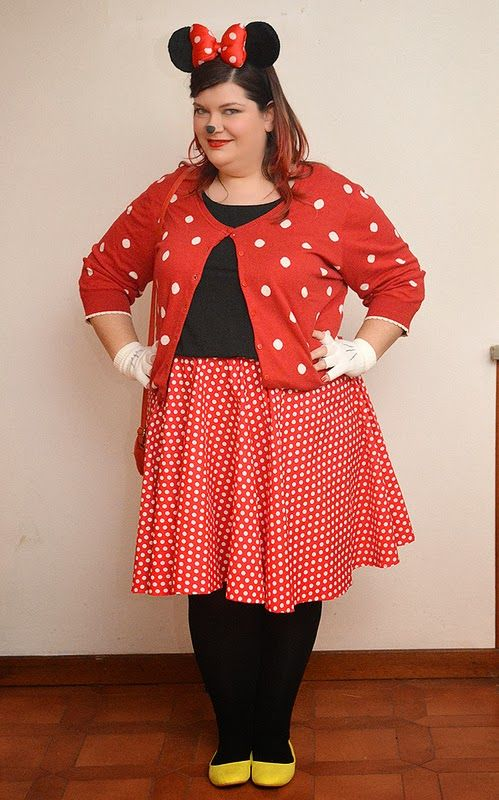 outfit plus size Carnevale, da Minnie Mouse (Topolina)