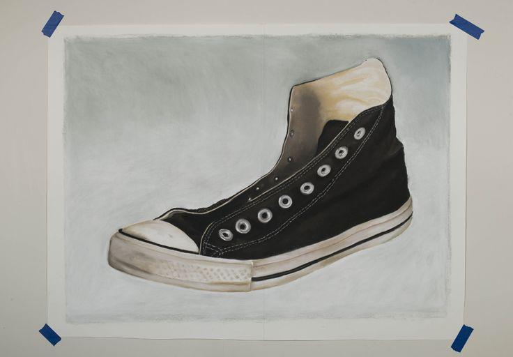 Michiel Pelerents, artist: SneakerPastel on paper, 130x90cm. Converse. Photo by Cedric Verhelst.