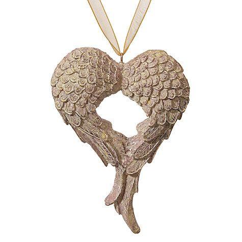 Buy John Lewis Enchantment Angel Wings Tree Hanger, Champagne Online at johnlewis.com
