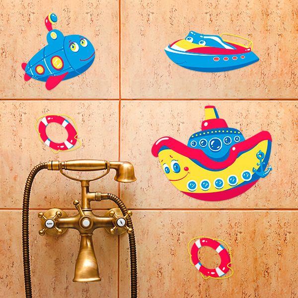Decoretto Наклейки для ванной Морские путешествия, 5 шт.