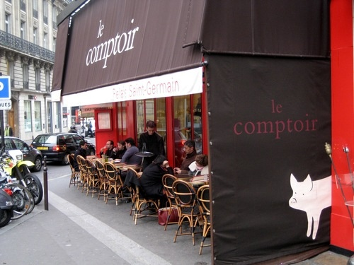 Le Comptoir, our fave cafe in the 6th.