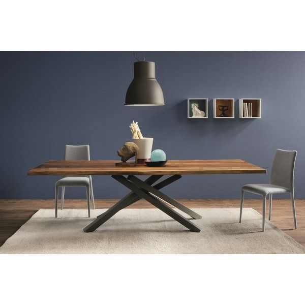 You Ll Love The Pechino Dining Table At Perigold Enjoy White Glove Delivery On Most Large Items Dining Table Furniture Walnut Slab Dining Table